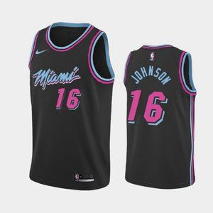 Miami Heat #16 James Johnson City Jersey
